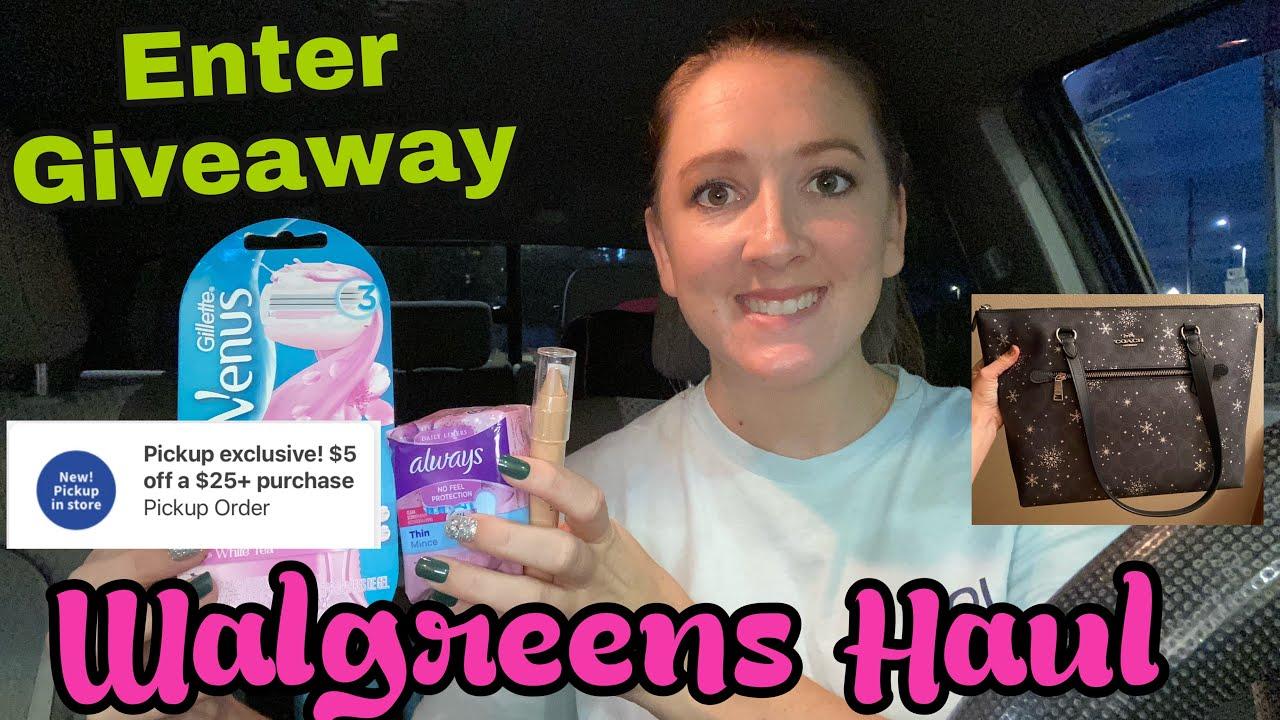 Walgreens Haul I Coach Purse Giveaway!