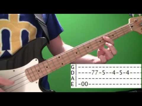 Bass Guitar Lesson - Funk Basslines with tabs