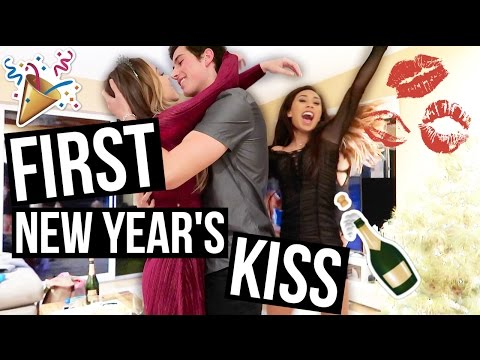FIRST NEW YEAR'S EVE KISS!
