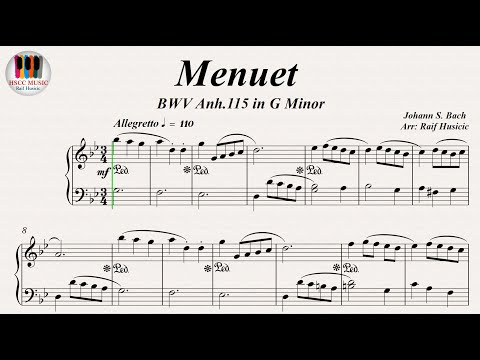Minuet in G Minor (BWV Anh. 115) - Johann Sebastian Bach, Piano