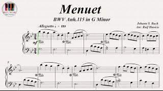Minuet in G Minor (BWV Anh. 115) - Johann Sebastian Bach, Piano
