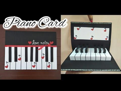 DIY Birth Day Card / Pop up Card/ Piano Love Card Tutorial
