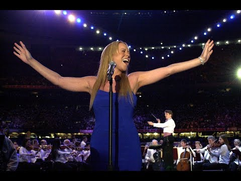 (BEST QUALITY) Mariah Carey- The Star Spangled Banner Live NFL Super Bowl 2002 (Slaying Fergie)