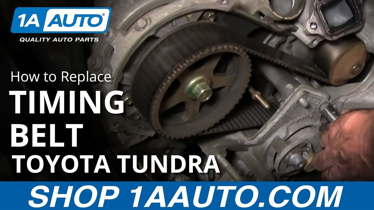 how to replace toyota tundra timing belt 2002 v8 disassemble front of engine part 3 1aauto com youtube [ 1920 x 1080 Pixel ]