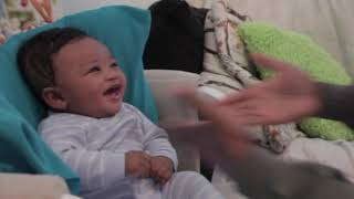 Baby LAUGHS at his father rapping
