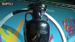УЕФА представил официальный логотип Евро-2020 в Санкт-Петербурге