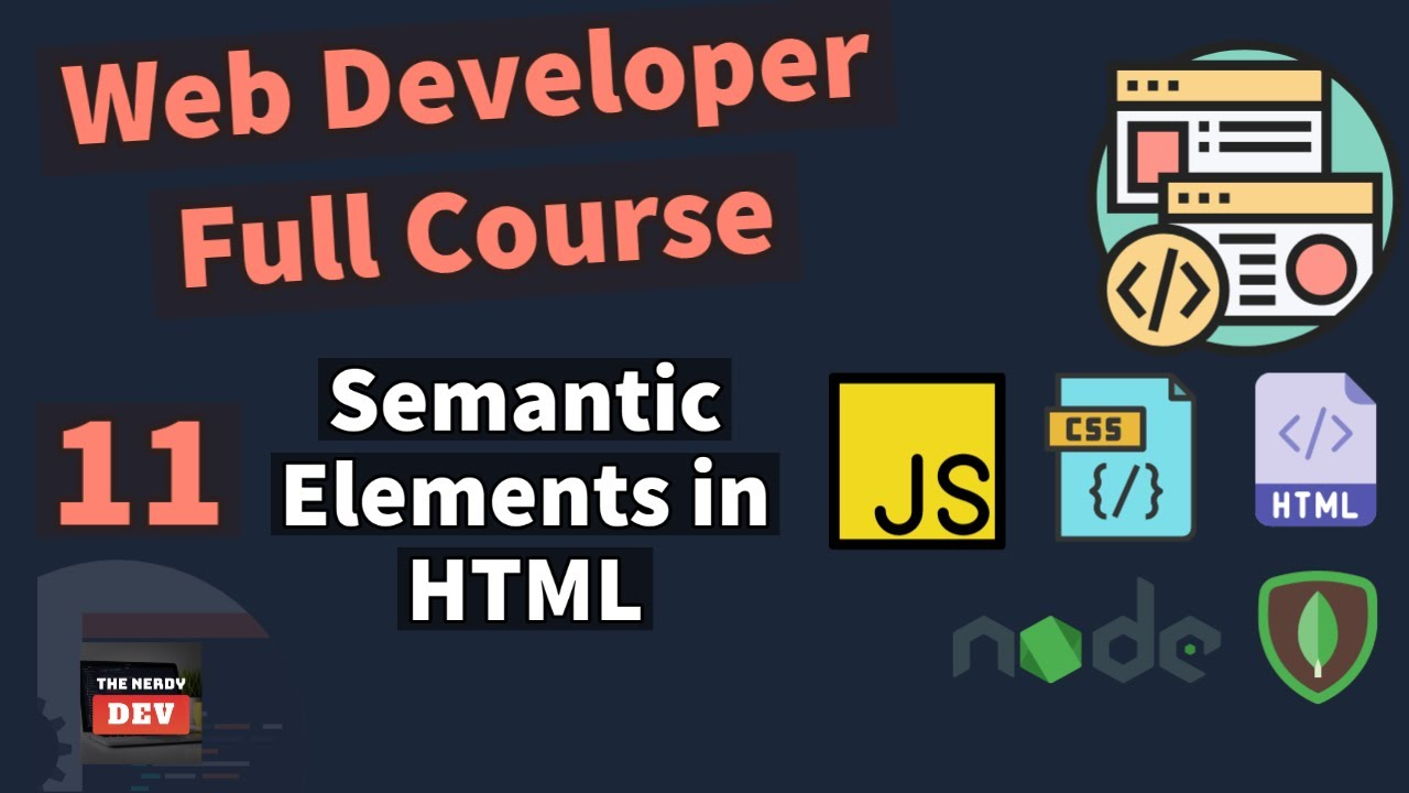 Learn About Semantic Elements in HTML
