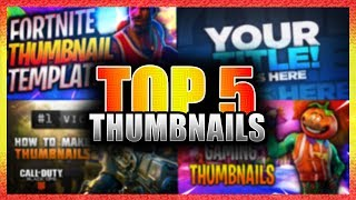 Top 5 Photoshop Thumbnails | FREE DOWNLOAD