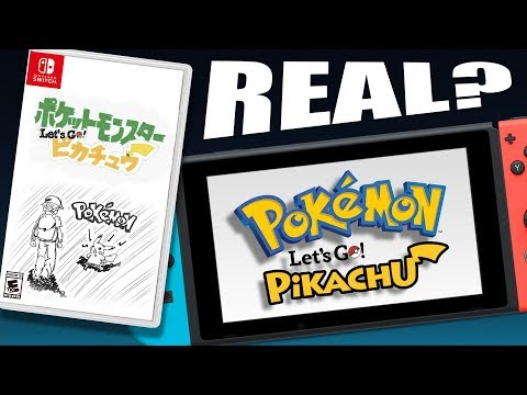 ARE THESE THE POKÉMON SWITCH GAMES? POKÉMON LET'S GO PIKACHU and LET'S GO EEVEE