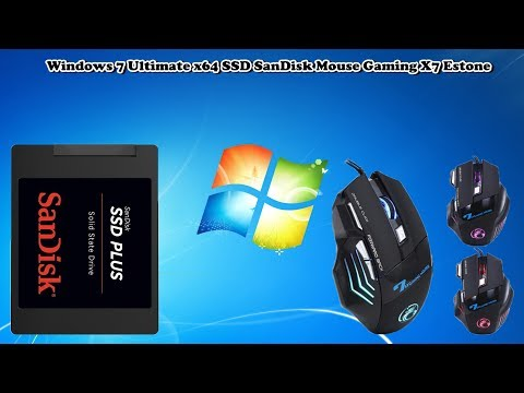 Windows 7 Ultimate x64 SSD SanDisk Mouse Gaming X7 Estone
