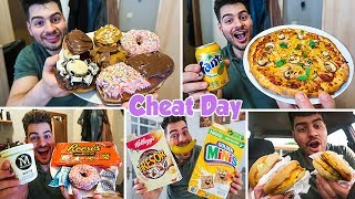 Home Made DONUTS & PIZZA | Ice cream, Cereal & MacDonalds | ManvsFood Cheat Day