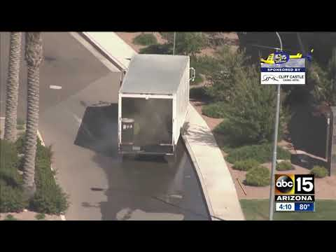 Chandler crash causes phosphorus spill, homes evacuated
