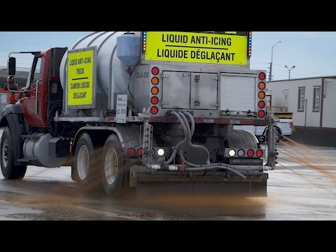 Spraying Beet Juice To Beat Snow And Ice On Roads