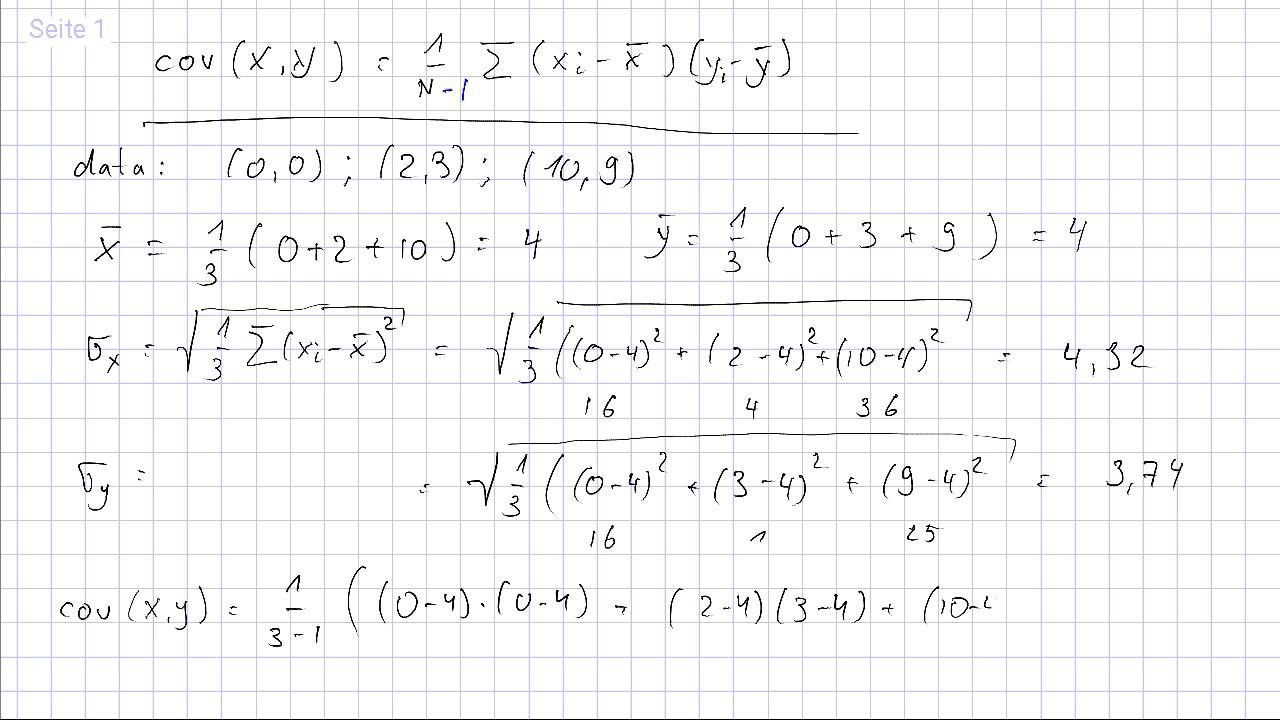 Kovarianz Erklarung Formel Berechnung Mit Video 14