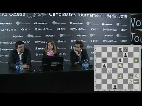 Round 10. Press conference with Kramnik and Aronian