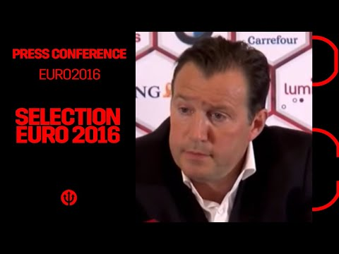 Press conference Marc Wilmots : Selection UEFA EURO 2016