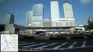 【側面展望】WILLER EXPRESS W815便 名古屋駅太閤通口→WILLERバスターミナル大阪梅田【進行方向右側】