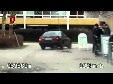 politijagt i hørsholm kokkedal    Toyota bliver jagtet ned i ghettoen