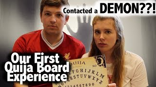 WE CONTACTED A DEMON??!! First OUIJA board Experience...