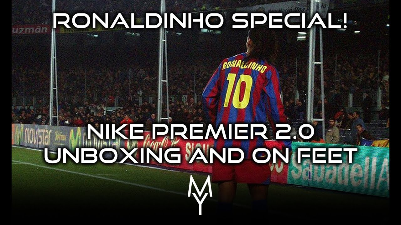 low priced 07879 0f083 RONALDINHO SPECIAL! NIKE PREMIER 2.0 FG WHITE  GOLD UNBOXING  ON FEET!