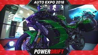 Kawasaki Ninja H2SX @ Auto Expo 2018 : PowerDrift