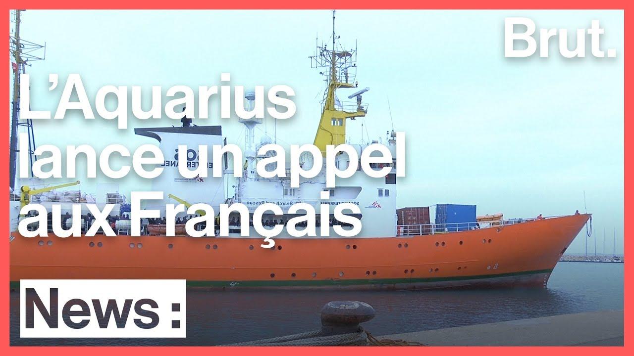 Le bateau de sauvetage l'Aquarius en appelle aux citoyens français