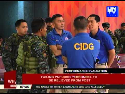 Failing PNP-CIDG personnel to be relieved from post