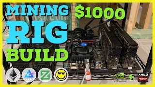 How To Build a Crypto GPU Mining Rig With $1000 or Less! Duo Miner! Beginner Guide ETH/Beam/Zcoin