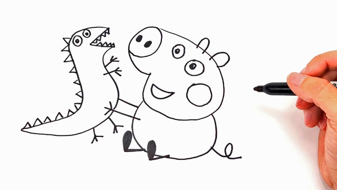 Como Dibujar A Peppa Pig Dibujos Infantiles Para Colorear