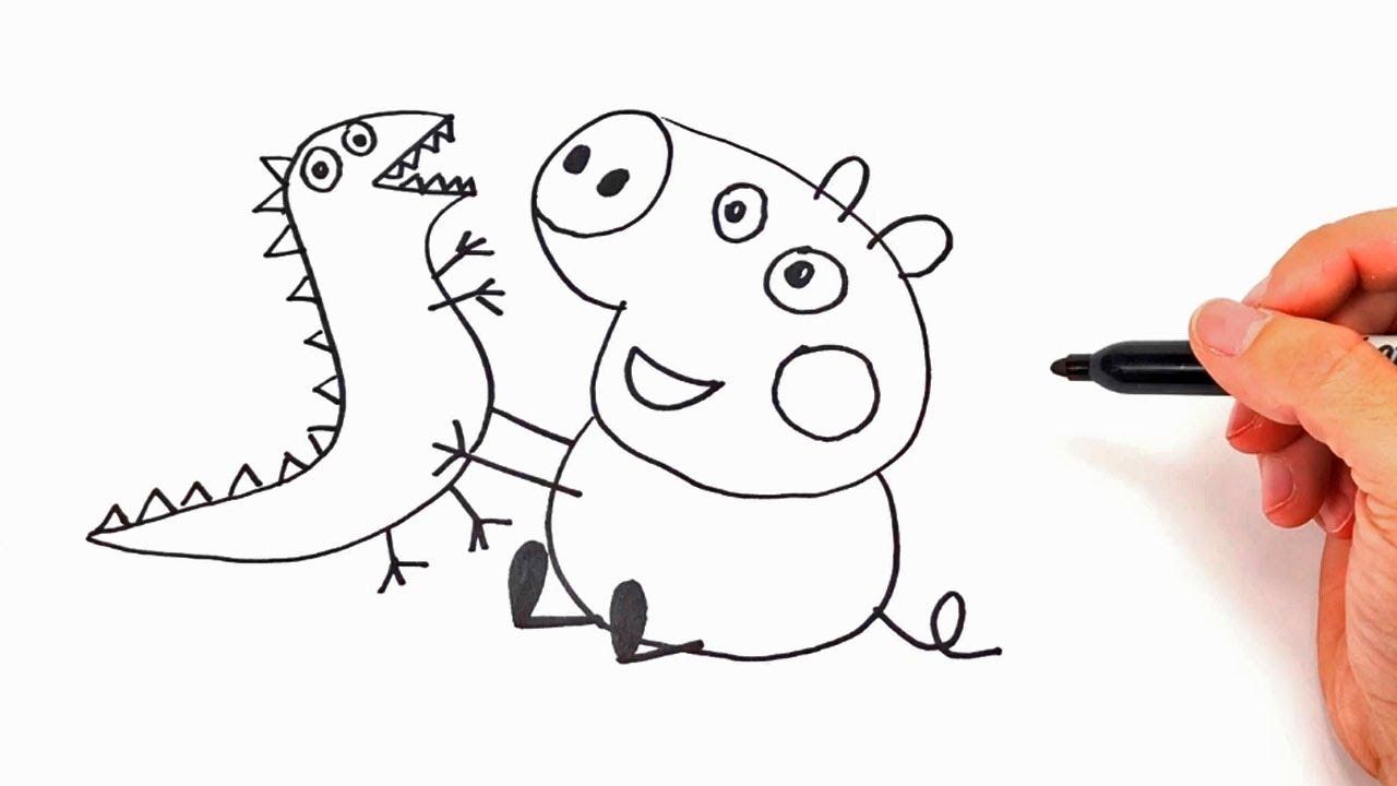 Dibujos Para Colorear Infantiles Dibujos Personajes: Como Dibujar A Peppa Pig