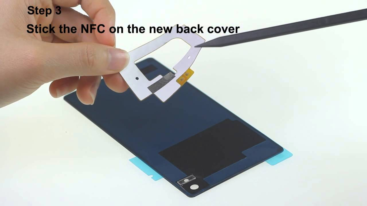 Remove The Sony Xperia Z3 Nfc Sticker And Reuse It Youtube
