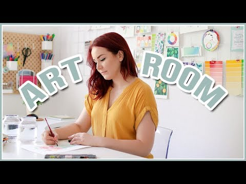 Art Studio Room Tour // DIY Wall Decor Ideas