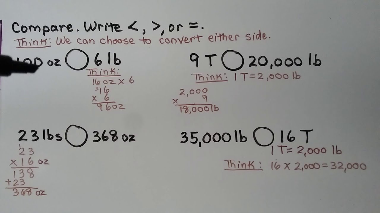 5th Grade Math 10 3 Compare Convert