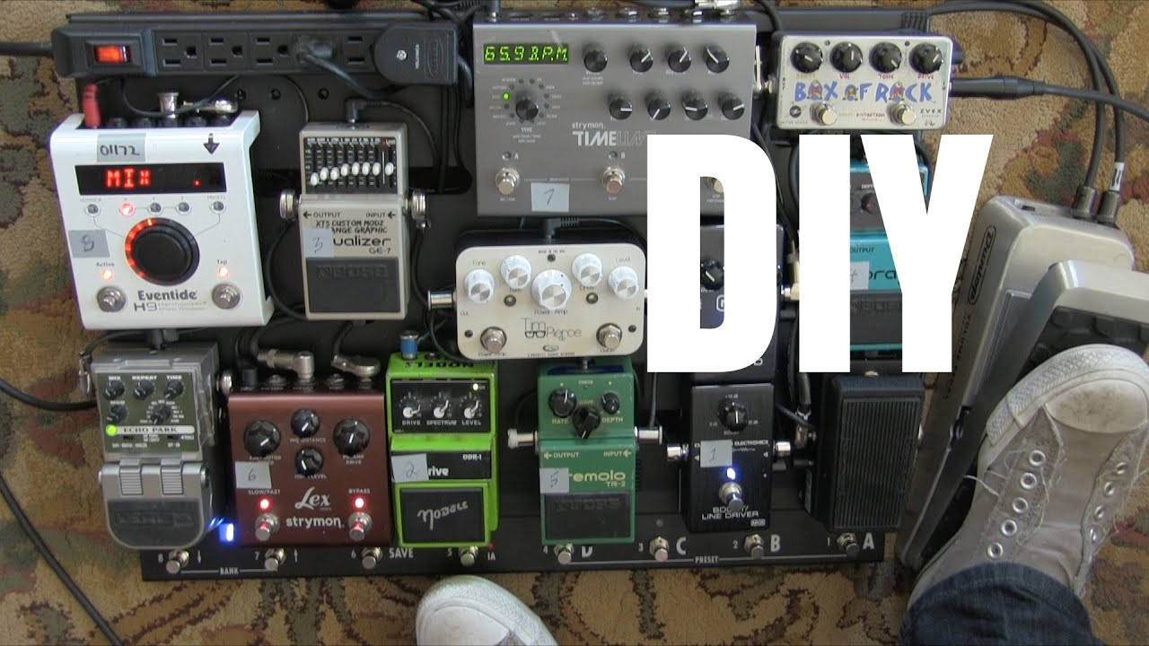 how to build a pedalboard diy tutorial guitar effects pedals tim pierce masterclass youtube. Black Bedroom Furniture Sets. Home Design Ideas