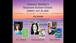 Literary Modiin Author Event w/ R.L. Maizes, Sara Lippmann & Ilana Masad. Hosted by Julie Zuckerman