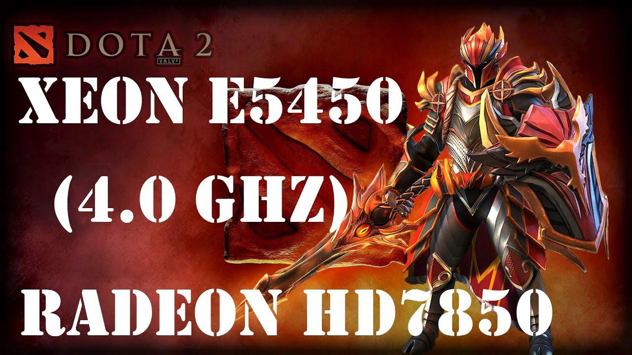 Большое тестирование Dota 2 на всех настройках графики Xeon E5450(Q9650), HD7850(R7 265/370)