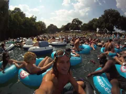 Tubing On The Comal River, New Braunfels, Texas Labor weekend 2010