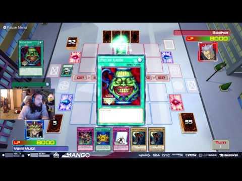 Smash Pro Mango plays a game of Yu-Gi-Oh