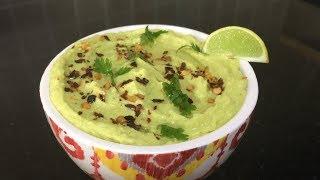 Avocado Hummus in Tamil | கொண்டைக் கடலை சட்னி |  அவகேடோ ஹம்மஸ்