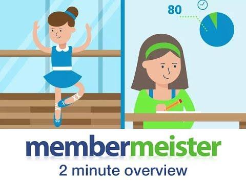 2 minute dance school software overview - membermeister