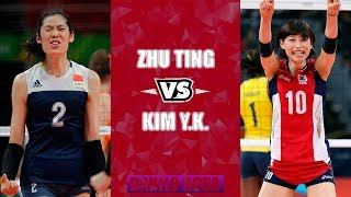 Kim Yeon Koung vs Zhu Ting | Amazing battle of Olimpic MVPs by Danilo Rosa