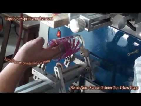 Screen Printing Machine For Glass Cups Youtube