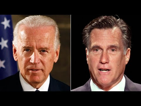 Joe Biden Encourages Mitt Romney To Run For Senate