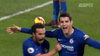 Chelsea vence o Crystal Palace por 3 a 1 e continua colado no líder City