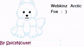 Webkinz Arctic Fox Speed Paint