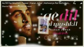Ae Dil Hai Muskil Song ,ranbir Kapoor Fan Video,must Watch For Ranbir Kapoor 😘