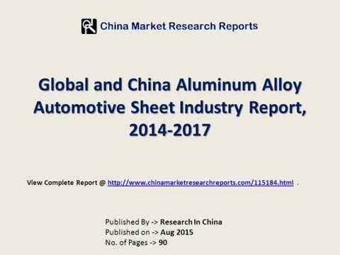 Aluminum Alloy Automotive Sheet Industry in China & World - 2017 Foresight