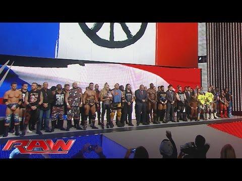 WWE honors the victims of the Paris terrorist attacks: Raw, November 16, 2015