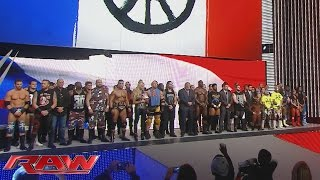 WWE honors the victims of the Paris terrorist attacks: Raw, November 16, 2015