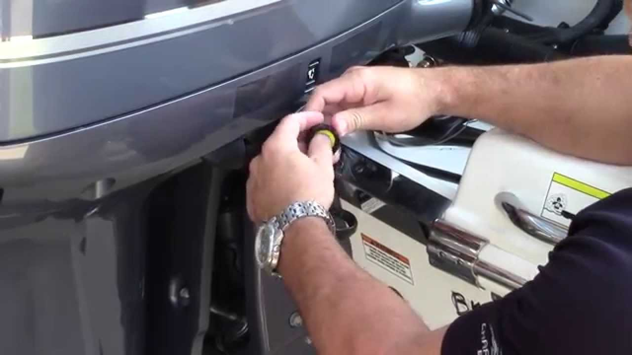 How to perform a static flush on a Yamaha Outboard motor  YouTube
